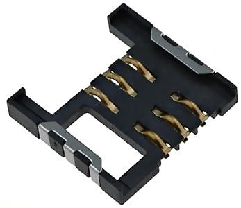 Złącze gniazdo czytnik SIM 6-pin SMD h=2.7