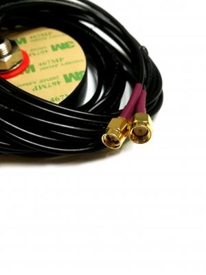 Antena LTE GPS kabel 3m RG174 2xSMA(m) IP67