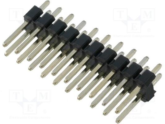 CONNFLY Listwa kołkowa 20pin 2.54mm prosta 2x10 THT