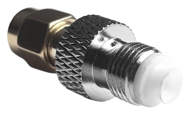 Adapter przejściówka FME (f) - SMA (m) prosty