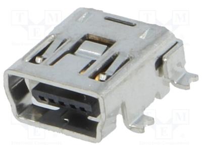 Gniazdo USB B mini 5-pin SMD