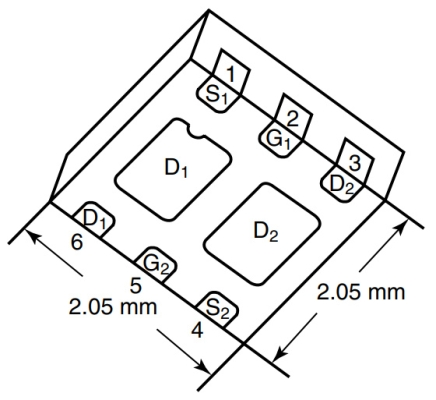 VISHAY Układ scalony MOSFET 2N-CH 20V 4.5A SC70-6