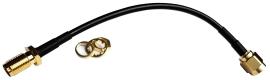 Kabel SMA-RP (m) - SMA-RP (f) 10cm RG174