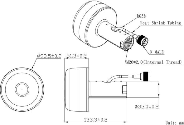 GPS Repeater 30m, 3m antena wewn. zasil 5V USB