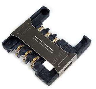 Złącze SIM 6-pin SMD h=2.6