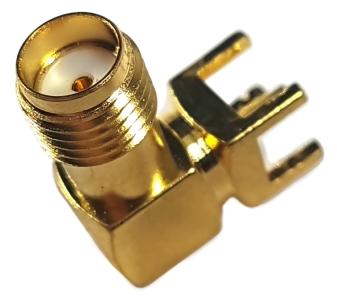 Złącze SMA (f) kątowe do druku 6x6x14mm