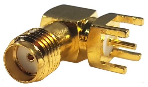 Złącze SMA (f) kątowe do druku 6x6x12mm
