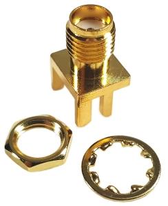 Złącze SMA (f) krawędziowe proste 14mm