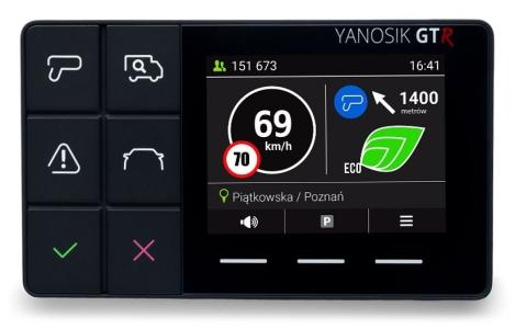 Yanosik GTR - antyradar z ekranem dotykowym