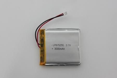 LP875255 3.7V 3000mAh zabezpieczenie, kabel złącze