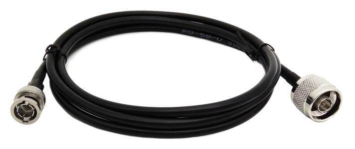 Kabel przejściówka BNC (m) - N (m) RG58 1.5m