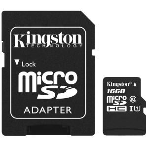 KINGSTON Karta pamięci KINGSTON microSDHC 16GB CSP Adapter
