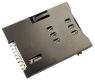 Złącze czytnik SIM 6-pin SMD wsuwane wo/p