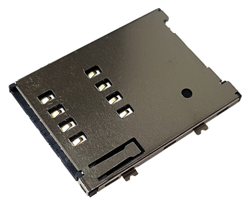 Złącze czytnik SIM 8-pin SMD wsuwane