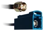 Kabel adapter FAKRA (f) - SMA A (m), 100mm RG174